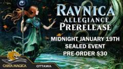 Ravnica Allegiance Prerelease - January 19th Midnight Sealed