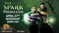 War of the Spark Sealed Prerelease - April 27th Midnight
