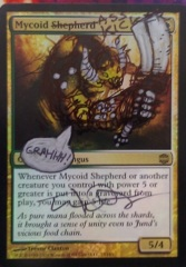 Mycoid Shepherd FOIL Alt Signed