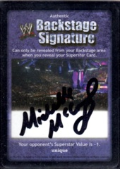 Backstage Signature - Michelle McCool