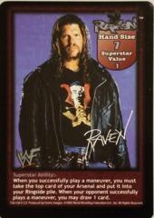 Raven face card