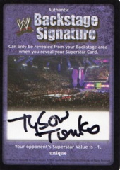 Backstage Signature - Tyson Tomko