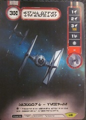 First Order TIE Fighter - Aurebesh Promo