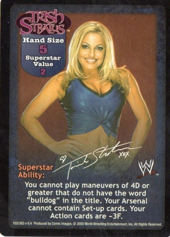 Raw Deal WWE V16.0 Trish Stratus Superstar Card