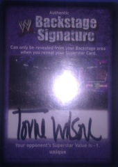 Backstage Signature - Torrie Wilson