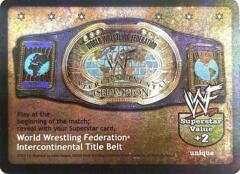 World Wrestling Federation Intercontinental Title Belt