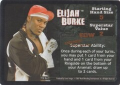 Elijah Burke face card