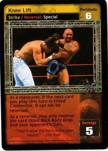 Revolution Raw Deal WWE Rev 1 Knee Lift