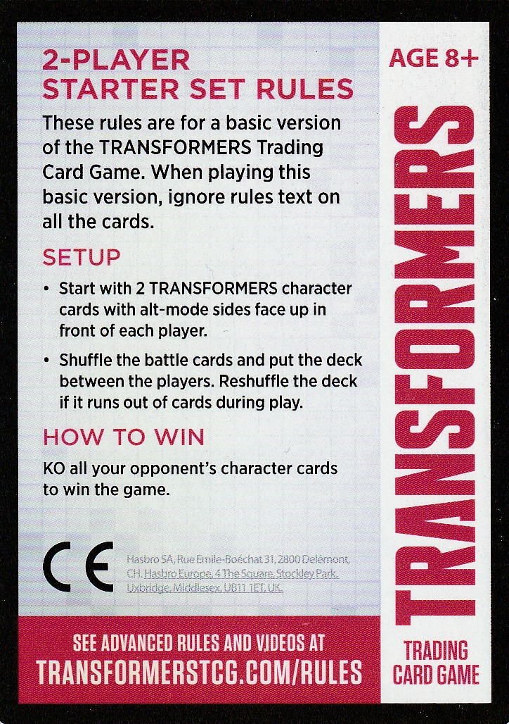 2-Player Starter Set Rules