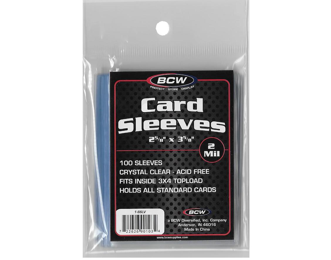 BCW Card Sleeves 100 per pack - 2 5/8 X 3 5/8