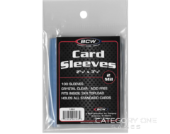 BCW Card Sleeves 100 per pack - 2 5/8 X 3 5/8