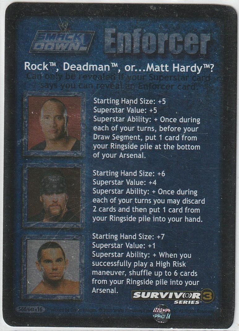 The Rock, Deadman, or Matt Hardy? (SS3)