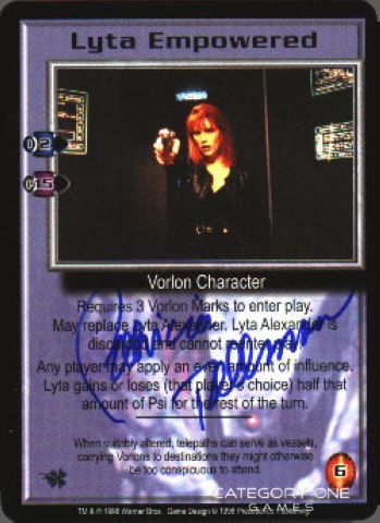 Lyta Empowered (signed by Patricia Tallman) [Great War]