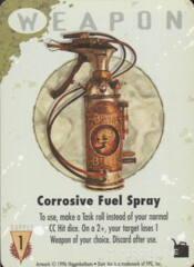 Corrosive Fuel Spray