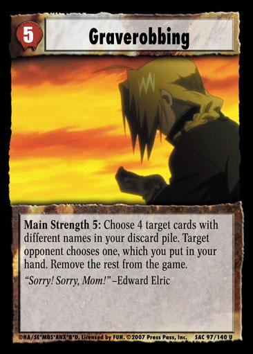 Graverobbing - Fullmetal Alchemist » Sacrifice