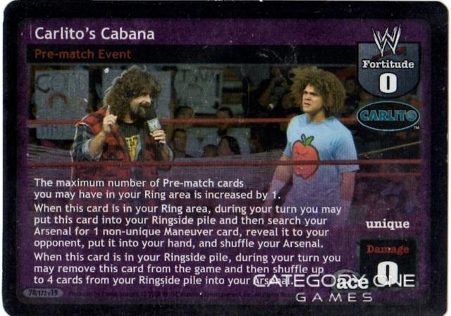 Carlito's Cabana - WWE Raw Deal » Superstar Cards » Carlito