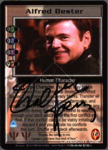 Alfred Bester (signed by Walter Koenig) [Psi Corps]