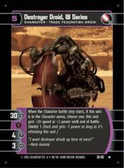 Destroyer Droid, W Series