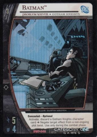 Batman, Problem Solver (EA)