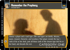 Remember the Prophecy - Foil