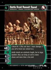 Battle Droid Assault Squad - Foil