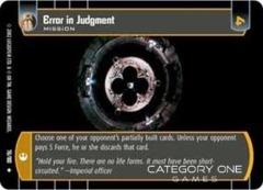 Error in Judgment - Foil