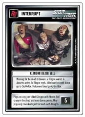 Klingon Death Yell [White Border Alpha]