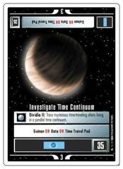 Investigate Time Continuum [White Border Alpha]