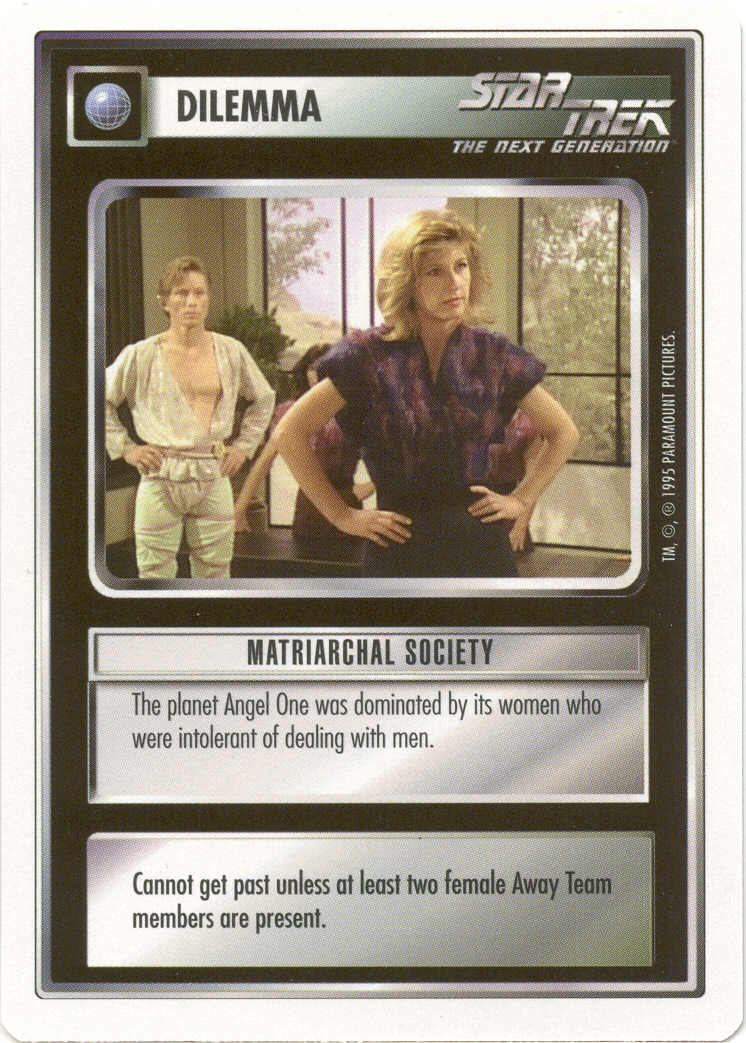 Matriarchal Society [White Border Beta] - Star Trek CCG 1E