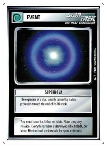 Star Trek CCG 1E Unlimited Edition Premiere Investigate Rogue Comet