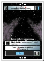 Investigate Disappearance [White Border Beta]