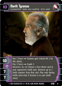 Star Wars TCG Darth Tyranus B Promo 4
