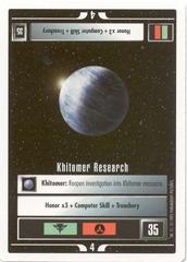 Khitomer Research [White Border Beta]