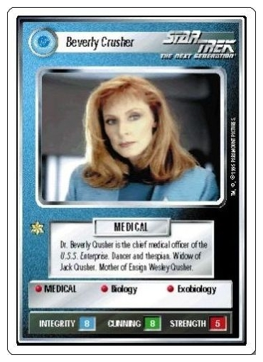 Beverly Crusher [White Border Beta]