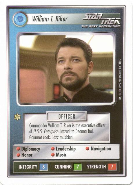 William T. Riker [White Border Beta]