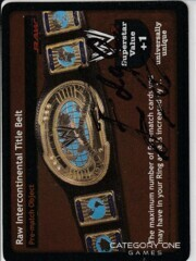 Raw Intercontinental Title Belt signed by Edge