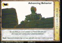 Advancing behavior