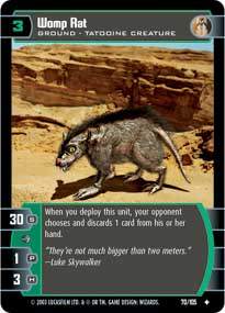 Womp Rat Star Wars Tcg Battle Of Yavin Categoryonegames I'm referring to the way watto used womp rat. womp rat star wars tcg battle of