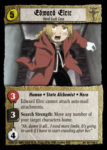 Edward Elric, Hard-Luck Case