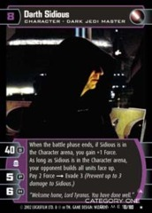 Darth Sidious (A) - Foil