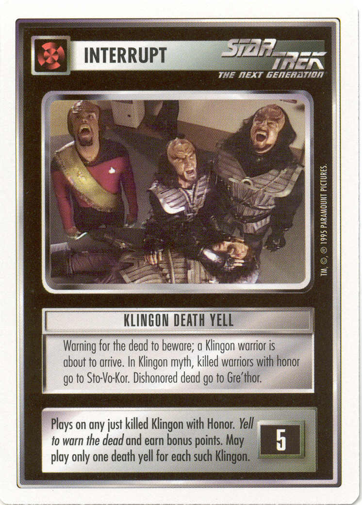 Klingon Death Yell [White Border Beta]