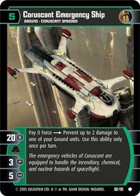 Coruscant Emergency Ship