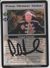 Prime Minister Mollari (signed by Peter Jurasik) [Great War]
