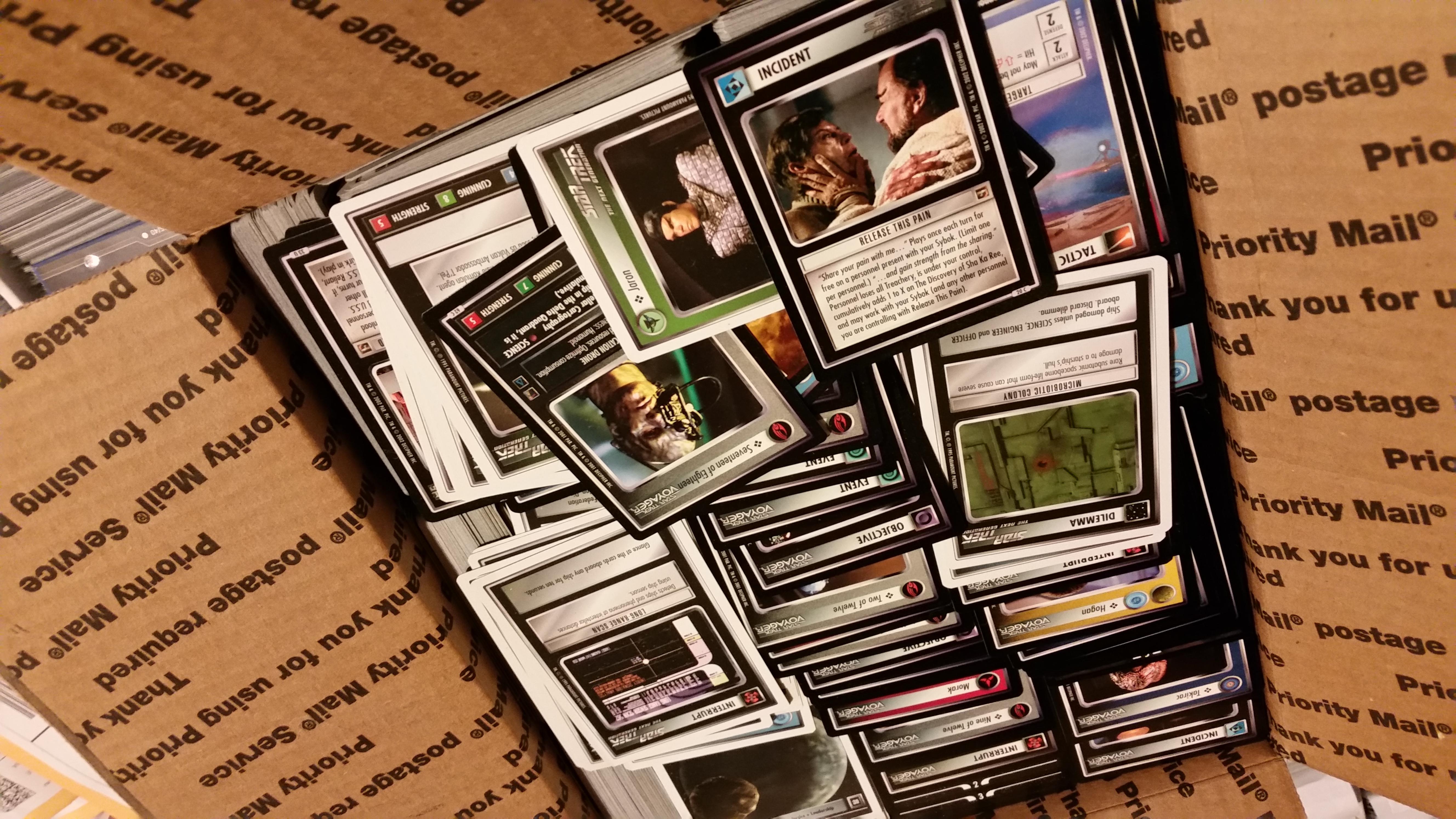 Star Trek 1E Grab Bag 6,900+ U/C Bulk Card Lot