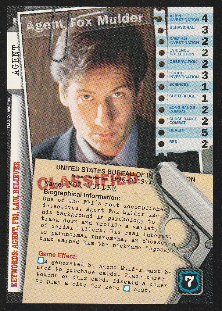 Agent Fox Mulder (XF96-0169v1)