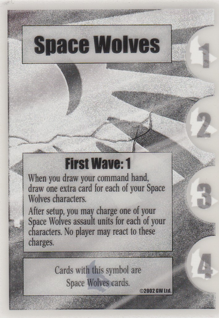 Space Wolves First Wave: 1- Clear Card