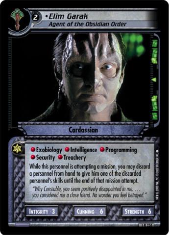 Elim Garak, Agent of the Obsidian Order - Foil