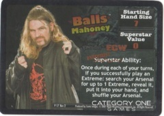 Balls Mahoney Superstar Card