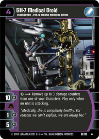 Star Wars TCG: 2-1B Medical Droid The Empire Strikes Back T A Lightly Played