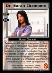Dr. Sarah Chambers (purple smock)